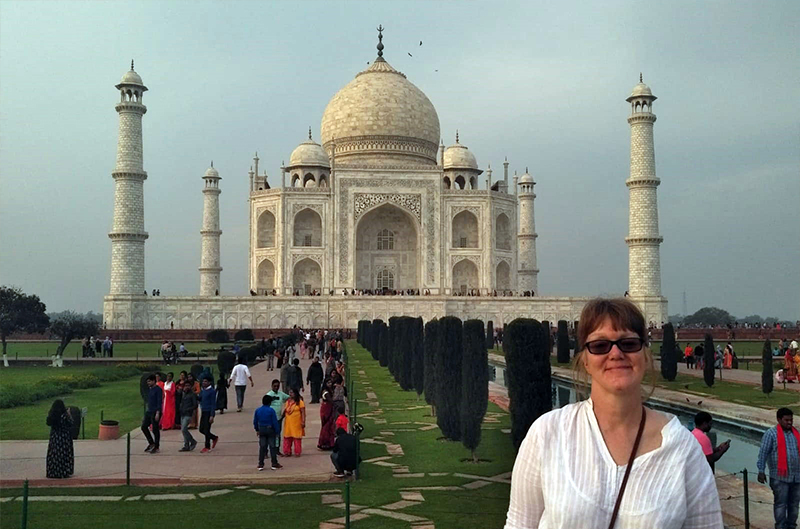 Sarah at the Taj Mahal | Incredible India Group Tour